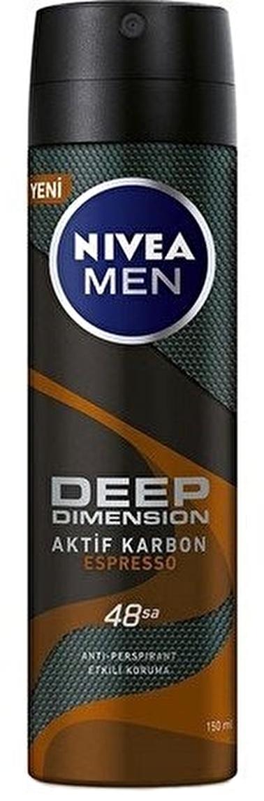 Nivea Nivea Men Deep Dimension Espresso Deodorant 150 ml Renksiz